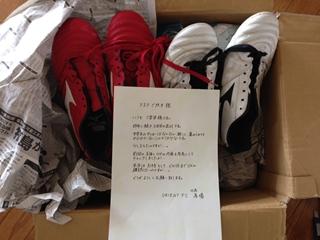 ORIENT FC 代表馬場 様よりサッカーシューズ9足2014.5.15
